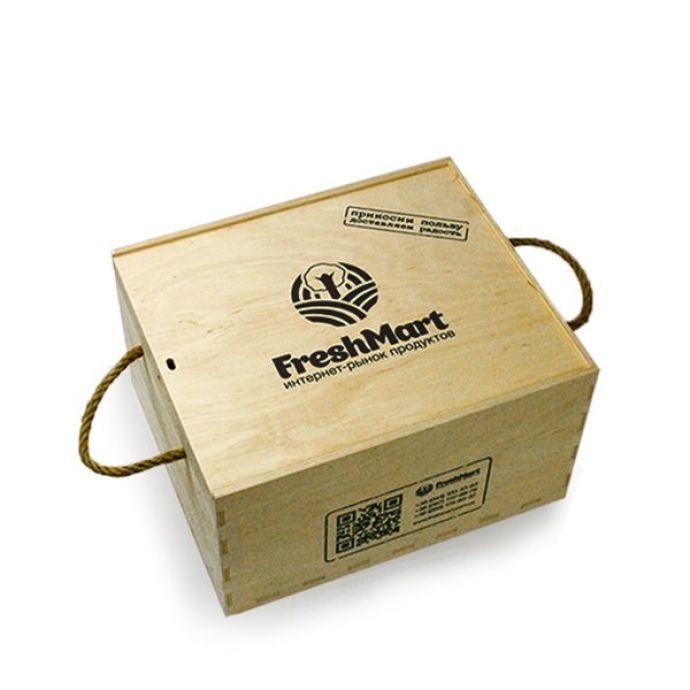 Деревянный бокс средний - FreshMart