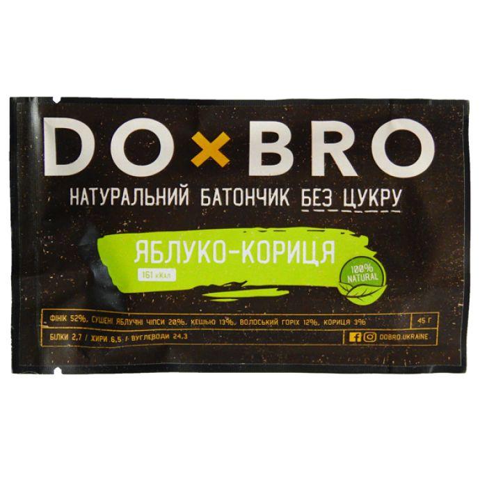 Энергетический батончик яблоко-корица DOBRO 45г: фото 2 - FreshMart