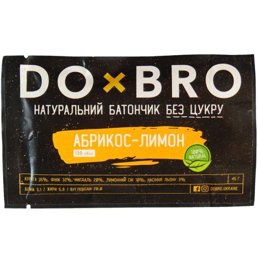 Энергетический батончик абрикос-лимон DOBRO 45г: фото 2 - FreshMart