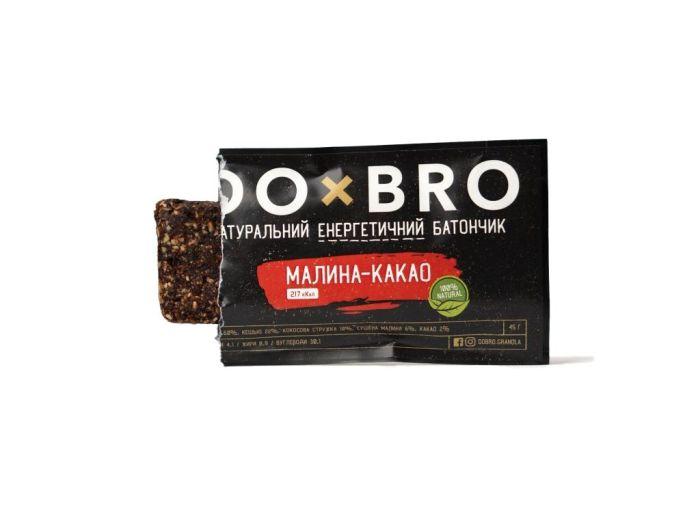 Энергетический батончик малина-какао DOBRO 45г - FreshMart