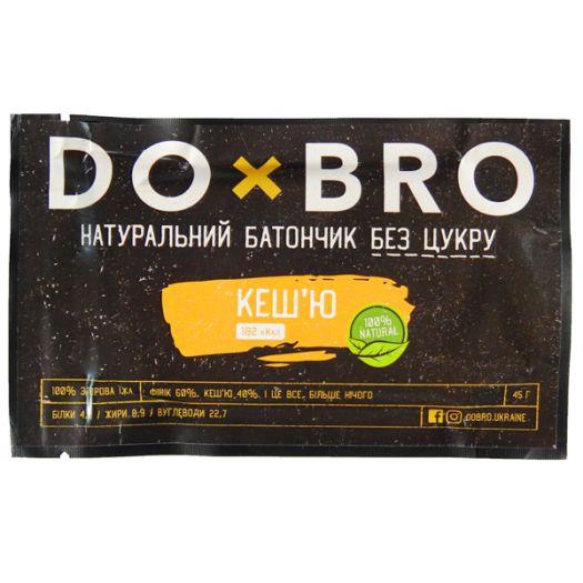 Энергетический батончик кешью DOBRO 45г: фото 2 - FreshMart