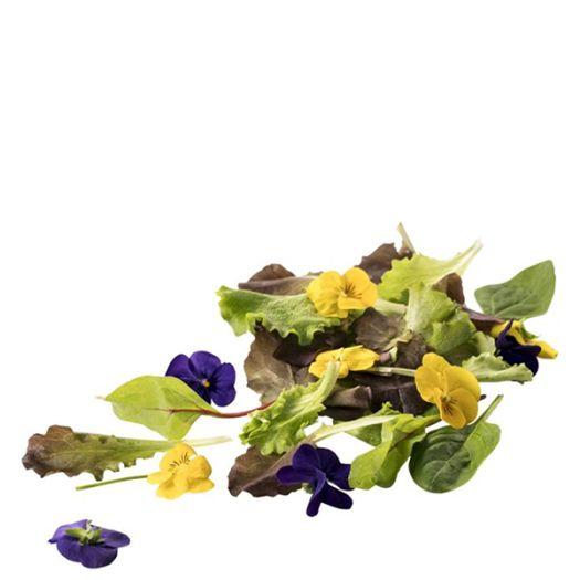 Микс салатов с цветами виолы 125г - FreshMart