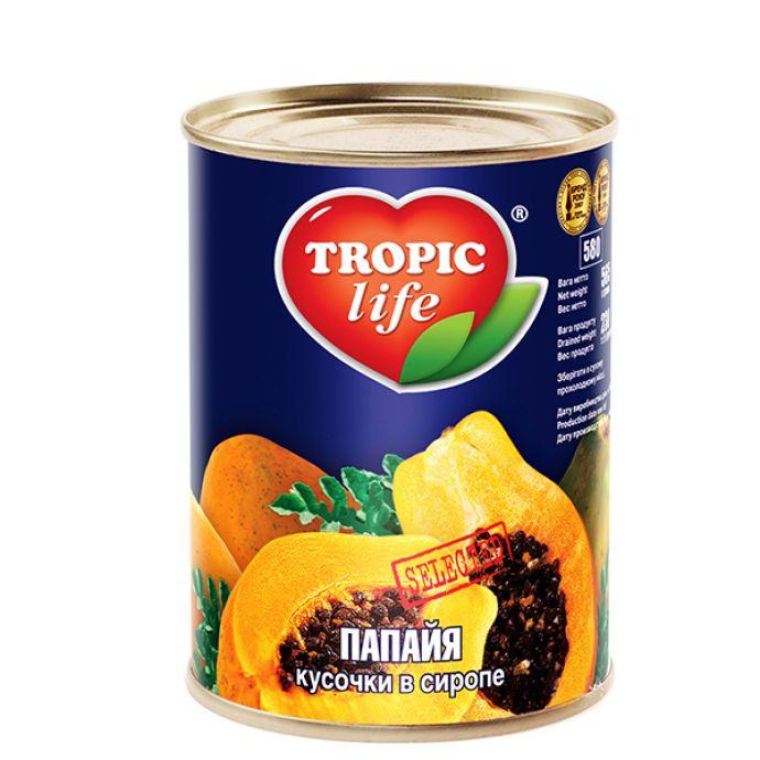 Папайя Tropic Life кусочки в сиропе 580мл  - FreshMart