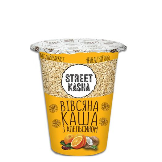 Каша вівсяна Street Kasha з апельсином 50г - FreshMart