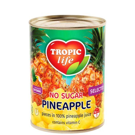 Ананас кусочками в собственном соку Tropic Life 580мл  - FreshMart