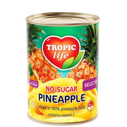 Ананас Tropic Life кольцами в собственном соку 580мл  - FreshMart