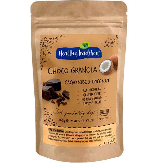 Гранола Healthy Tradition Choco Granola какао-крупка та кокос 160г - FreshMart