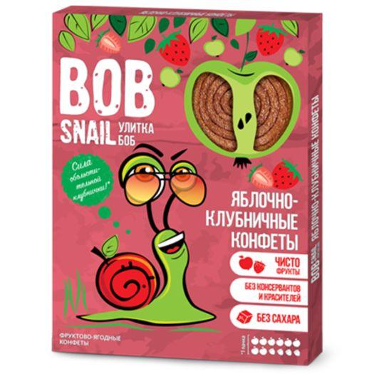 Конфеты Bob Snail яблочно-клубничные натуральные 60г - FreshMart