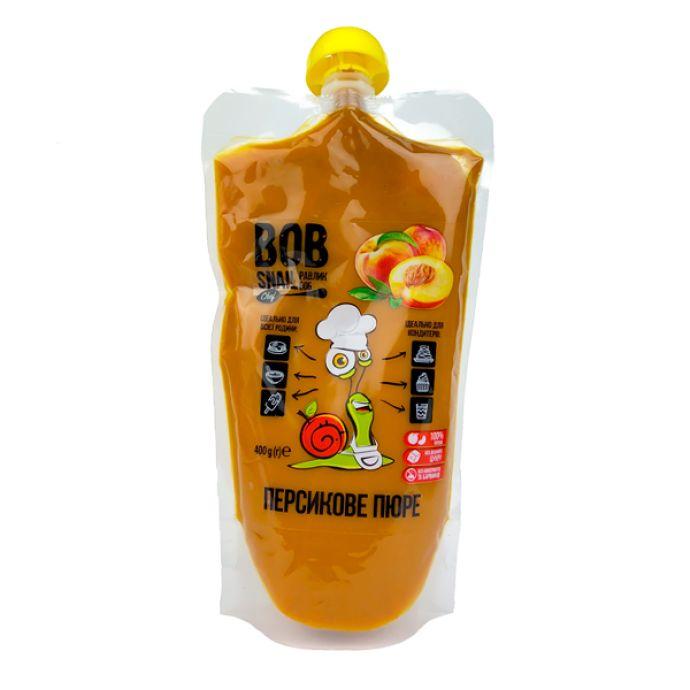 Пюре персиковое натуральное Bob Snail 400г - FreshMart
