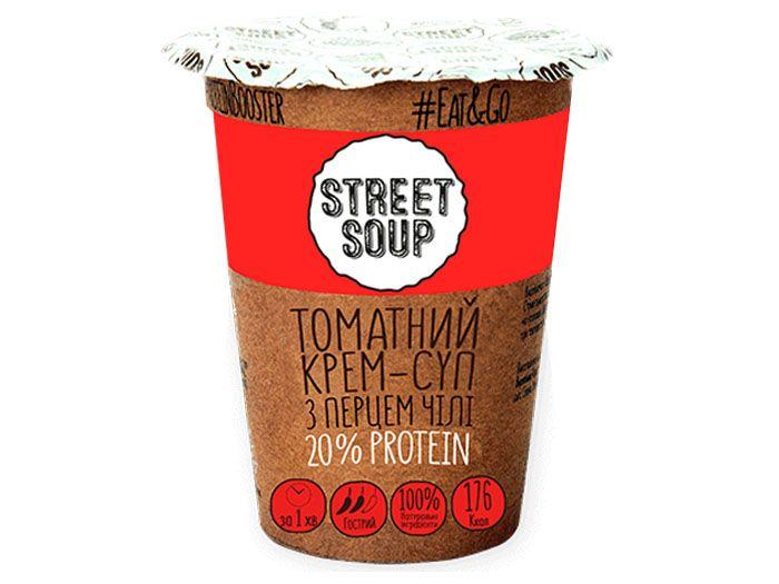 Крем-суп Street Soup томатный c перцем чили 50 г - FreshMart